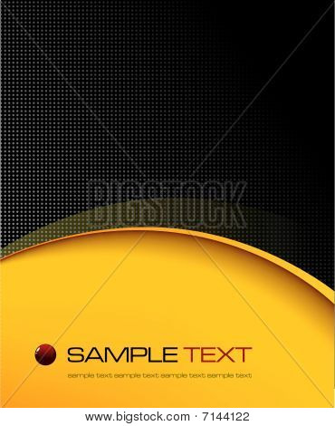 Black and yellow background composition