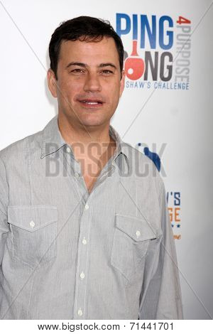 LOS ANGELES - SEP 4:  Jimmy Kimmel at the Ping Pong 4 Purpose Charity Event at Dodger Stadium on September 4, 2014 in Los Angeles, CA