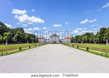 famous Nymphenburg castle in Munich