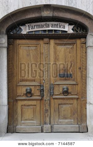 Historical wooden door