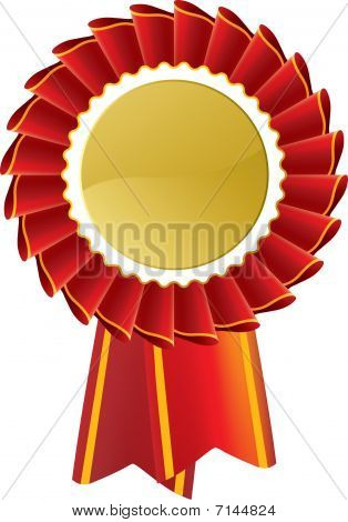 Red Award Rosette Seal