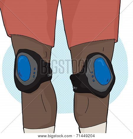 Skater With Knee Pads