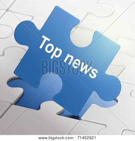 Top News On Blue Puzzle Pieces