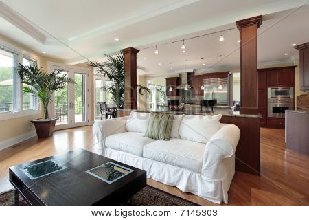 Family Room With Kitchen View