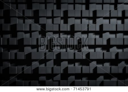 Abstract of dark cubes background