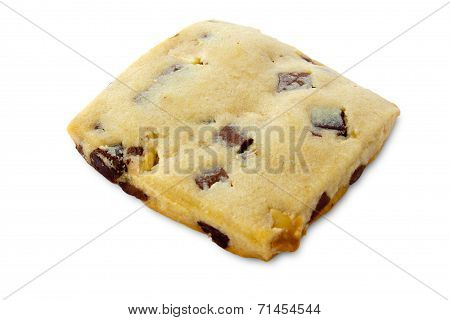 Shortbread With Chocolate Chips And Fudge