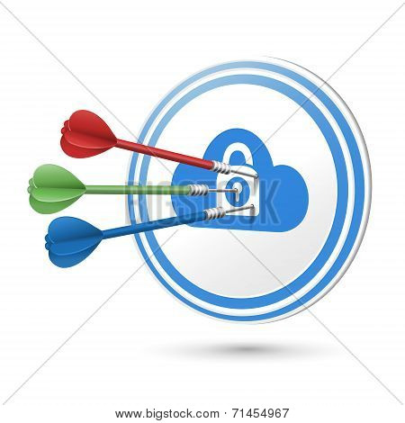 Online Privacy Concept Target With Darts Hitting On It