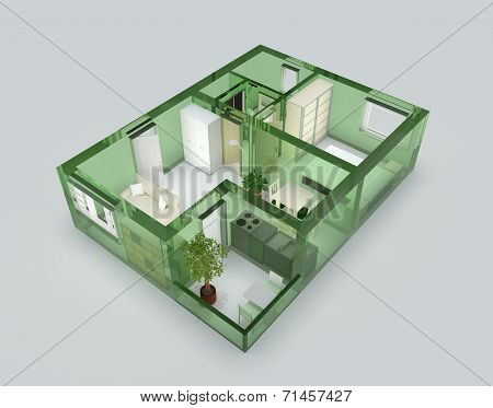 Green glass apartment
