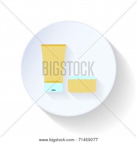 Bath Cream And Balm Flat Icon