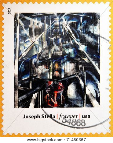 UNITED STATES OF AMERICA - CIRCA 2013: A stamp printed in USA dedicated to modern art in america