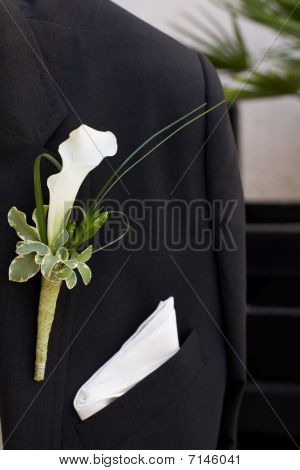 Jacket With Flower On Pocket