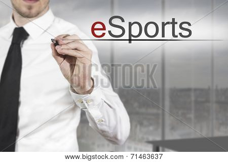 Businessman Writing Esports