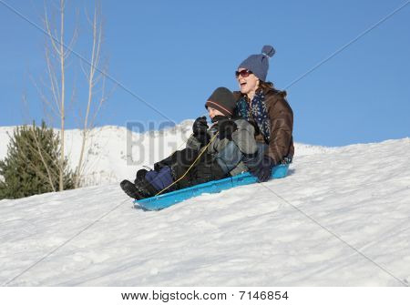 Sledding Together