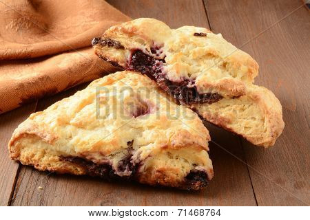 Chocolate Cherry Turnovers