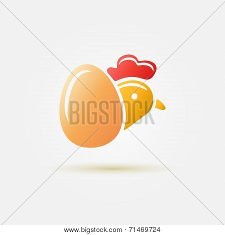Bright vector poultry symbol