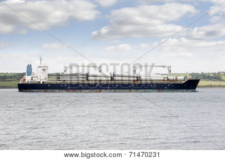 Cargo Ship With Windmill Parts