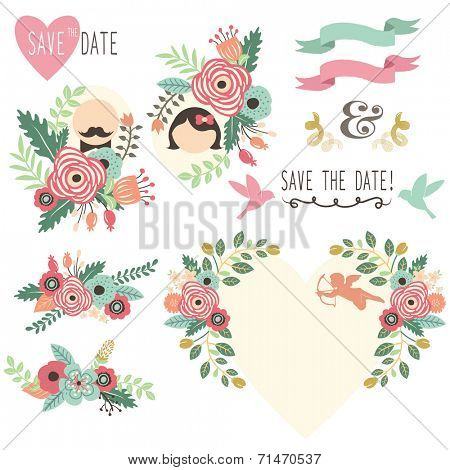 Vintage Wedding Flora Invitation