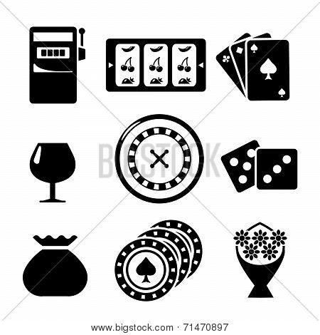 Set Icons Of Casino Items