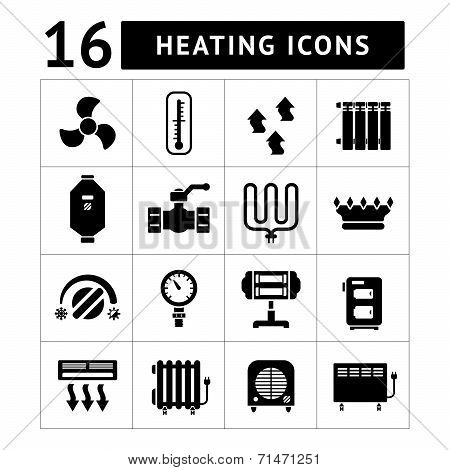 Set Icons Of Heating Items