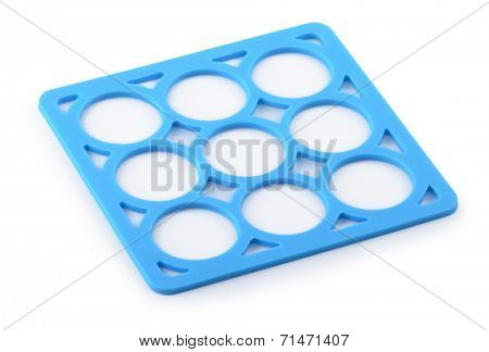 Isolated trendy empty placemat