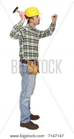 Manual Worker On Duty