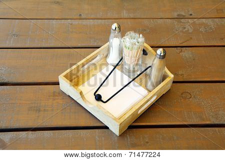 Cutlery On A Decorative Tray