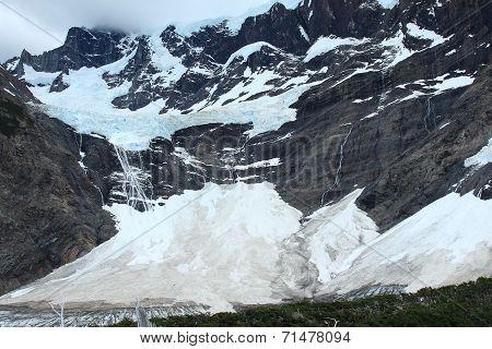 Glacier, Torres del Paine, Chile