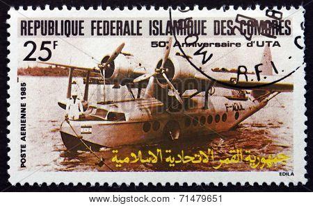 Postage Stamp Comoros 1985 F-aoul Seaplane