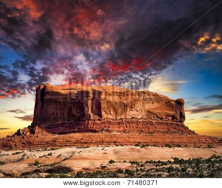 Desert Butte In Utah