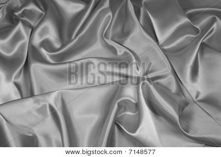 Silver Satin/Silk Fabric 1