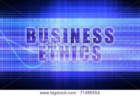 Business Ethics on a Tech Business Chart Art