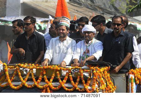 Rahul Gandhi in Varanasi.