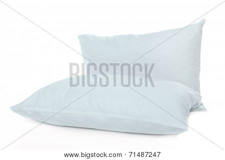 White pillows isolated on white