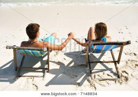 Pareja en una playa