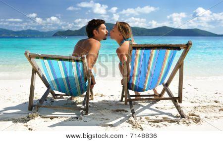 Kiss On A Beach