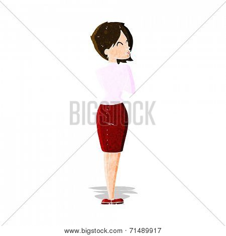 cartoon businesswoman ignoring