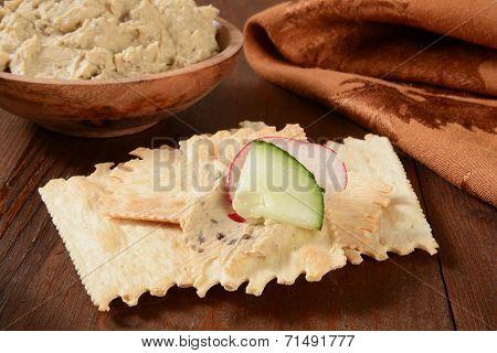 Flatbread Crackers And Hummus