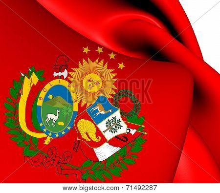 Flag Of Peru-bolivian Confederation