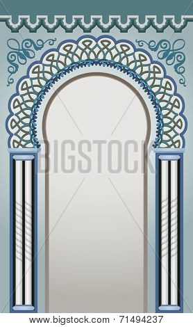 Vector Illustration of Decorative Arc - eps 10