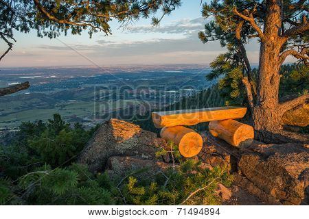Colorado View Point Bench