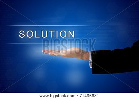 Solution Button On Virtual Screen