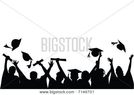 Schulabschluss-Feier
