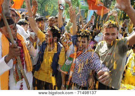 BJP wins election 2014.
