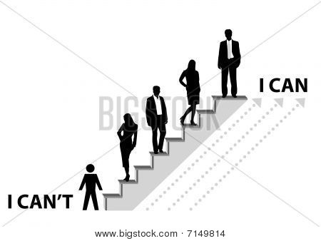 Conceptual illustration of achieving a goal