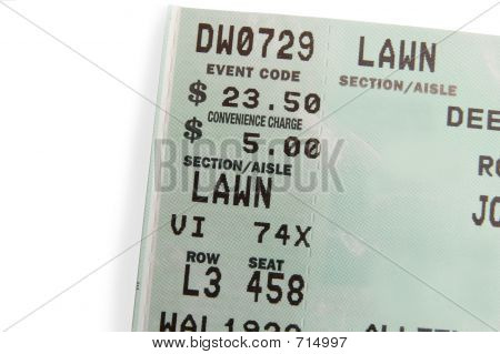 Ticket Stub Closeup