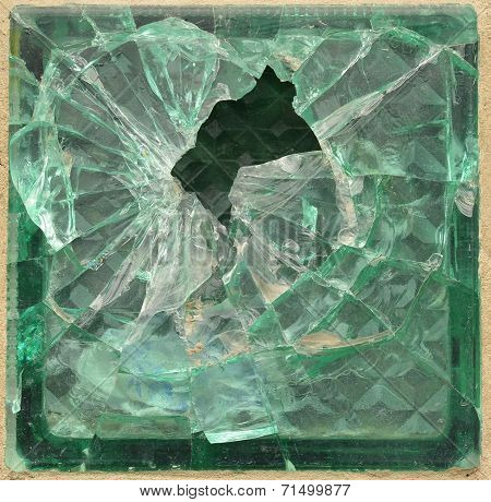 Shattered glass brick