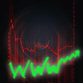 image of stock market data  - illustration of the red stock market chart - JPG