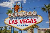 picture of las vegas casino  - A view of Welcome to Fabulous Las Vegas sign in Las Vegas Strip at day time - JPG
