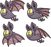 stock photo of bat  - Bat flight cycle - JPG