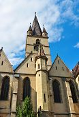 foto of sibiu  - Sibiu city Romania Lutheran Cathedral architecture detail - JPG